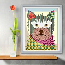 Australian Terrier Dog Pet Portrait Animal Lover Gift Wall Decoration Painting