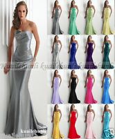 New Long Evening Formal Party Ball Gown Prom Wedding Bridesmaid Dress Size 6-16