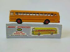 DINKY 350 Wayne SCHOOL BUS CON DETTAGLI ROSSI INGHILTERRA. Boxed