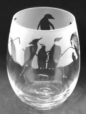 More details for penguin frieze boxed 36cl crystal stemless wine / water glass