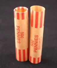 72 Preformed Coin Wrappers Pennies Cents Heavy Duty Easy Storage Tubes Nested