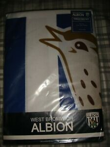 WEST BROMWICH ALBION WBA BAGGIES FOOTBALL DUVET SET SINGLE BED - NEW AND SEALED