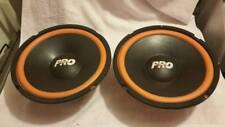 "Pair of used  Mobile Authority pro 10"" subwoofers."