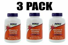 Now Foods, Vitamin C Crystals, 3 PACK, 8 oz, Ascorbic Acid, Immune Support