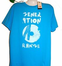 Hugo Boss Blue Graphic Design Cotton Mens T- Shirt Size 2XL NEW Boss Orange