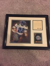 1994 EMMITT SMITH Matted Kelly Russell Studios Lithograph Print Unstoppable