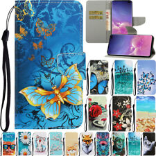 For Samsung Galaxy Note 10 S10 Plus Pattern Wallet Flip Stand Phone Case Cover