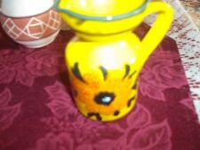 made in Italy little sunflower pitcher clay ceramic hand painted