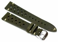 RIOS1931 Rally Vintage Cowhide Watch Strap Handmade in Germany Robust Moss Gr...