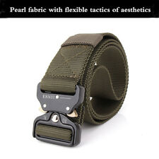 Men's Canvas Belt Metal Insert Buckle Military Nylon Tactical Training Belt Army