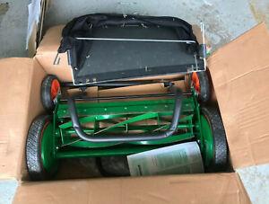 "Scotts 20"" Classic Manual Push Reel Mower Handlebar Bagger W/ Bag Grass Catcher"