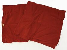 Vintage Japanese Fine Deep Scarlet Red Silk Chirimen Furoshiki Nov17M