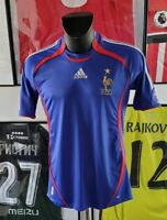 Maillot jersey maglia camiseta trikot shirt france 2006 zidane 06 S vintage rare