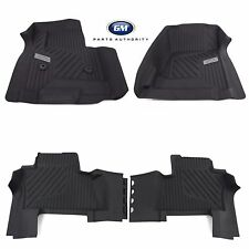 2015-2019 Chevrolet Suburban Front & 2nd Row All Weather Floor Liners Black OEM