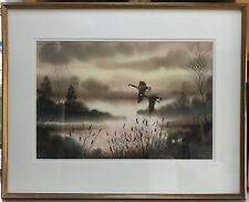 Edward T. Robinson (1938-2010) Landscape Watercolor Painting, Artist Signed