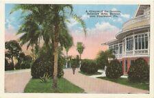 Clearwater Belleair FL Belleview Hotel Grounds Postcard #s1434