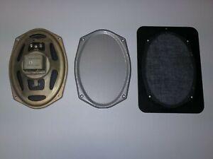 Vintage Genuine MOTOROLA Rear Deck Speaker 40 OHM GOLDEN VOICE w/ grille