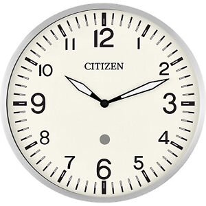 Bulova CITIZEN Echo Compatible, Programmable Wall Mounted Smart Clock, Silver