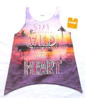 Gymboree Girls Tank Top Shirt Safari Twirl Print Purple Pink Rhinestones 10 Nwt