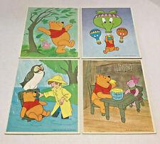 Set of 4 Vintage Winnie The Pooh Puzzles 1964 Walt Disney Productions