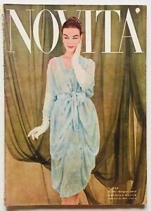 Novità Rivista moda fashion vintage Giugno 1957 Anni Cinquanta Spose Arredamento