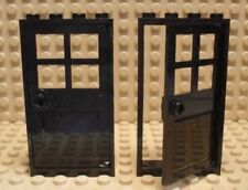Lego X2 City / Friends Home Building Black Door With 1x4x6 Frame Parts Lot