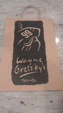 NEW- WAYNE GRETZKY'S REATAURANT-TORONTO,CANADA LOGO SHOP BAG-2 SIDED-10X14""""