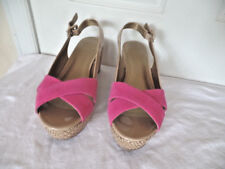 CIRCA JOAN&DAVID LUXE BEAUTIFUL PINK & BEIGE  LEATHER SHOES/WEDGES/SANDALS S 8.5