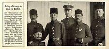 Kriegschirurgentag in Berlin  Dr.v.Schjerning türkische Ärzte 1916