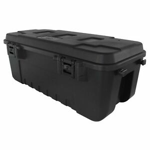 Heavy Duty Plano Military Storage Trunk, Black - Perfect for Indoor/Outdoor Use