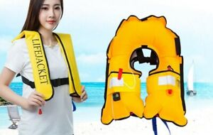 Adult Inflatable Life Jacket Professional Automatic Swimming Vest Water Sports