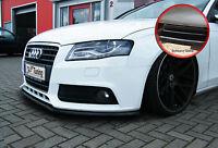 Frontspoilerlippe Schwert für Audi A4 B8 aus ABS mit ABE schwarz glänzend