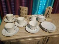 15 Piece Crown Empire fine China Cup, Saucer, Bread plate, creamer & sugar bowl