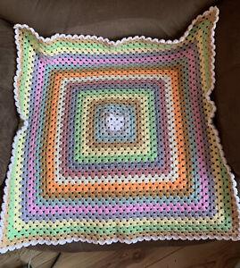 Handmade crochet baby blanket/car seat/pram/crib Cupcake Frosting  granny square