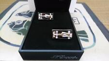 S.T. Dupont Limited Edition McLaren Formula 1 Black PVD/Steel Race Car Cufflinks