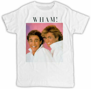 WHAM T-SHIRT GEORGE MICHAEL POSTER IDEAL GIFT BIRTHDAY PRESENT COOL RETRO