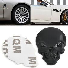 3D Metal black Skull Bone Auto Car Motorcycle Decor Emblem Badge Decal Sticker