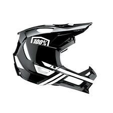 100% MTB Helmet Trajecta Black/White Mountain Bike Downhill DH BMX Full Face