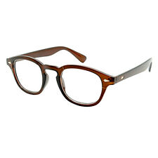 Classic Oval Frame Clear Lens Glasses Mens Celebrity Style Depp Vtg 50's Johnny Brown