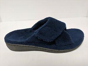 Vionic Indulge Relax Comfort Slippers, Navy, Womens 5 M