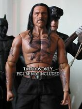 1/6 Scale Tattoos: Danny Trejo or Machete Inspired Pack - Waterslide Decals