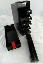 Vintage Sturdy Plastic 35mm Photo Slide Handled 8x Storage Trays Compartment Box