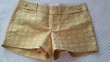 Banana Republic Factory Geometric Yellow Gold Metallic Short Women's Sz 2 NWT M7