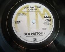 SEX PISTOL GOD SAVE THE QUEEN  A&M RECORDS RETRO VINYL LP UNIQUE BOWL PUNK ../