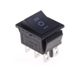 2PCS KCD4 Rocker Switch Black DPDT ON/OFF/ON 6 PIN 16A/250VAC 20A/125VA B S*