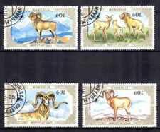 Mongolie 1987 Animaux (7) Yvert n° 1508 à 1511 oblitéré used