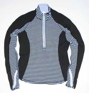 LULULEMON 1/2 Zip Shirt RUN U-TURN Pullover Polar Haze Purple Black Yoga Sz 12
