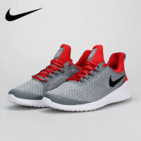 Nike Renew Rival Grey Red Running Training Shoe AA7400-004 Men's size 7.5