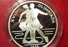 1998 Romania Large Silver Proof  100 Lei  Olympic Figure Skating