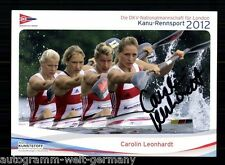 Carolin Leonhardt TOP Original Signiert Kanu + A 55996
